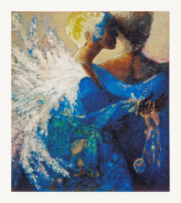 Figure Poster featuring the painting She Who Whispers by Dale Witherow