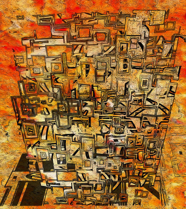 Abstraction Poster featuring the digital art Tangerine Dream by Jack Zulli