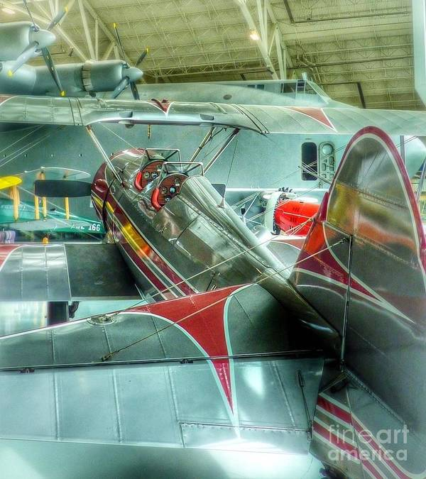 Spruce Goose Poster featuring the photograph Vintage Airplane Comparison by Susan Garren