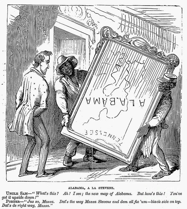 1868 Poster featuring the photograph Reconstruction Cartoon by Granger