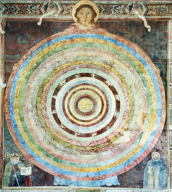 God Poster featuring the photograph 14th Century Theological Cosmography by Sheila Terry