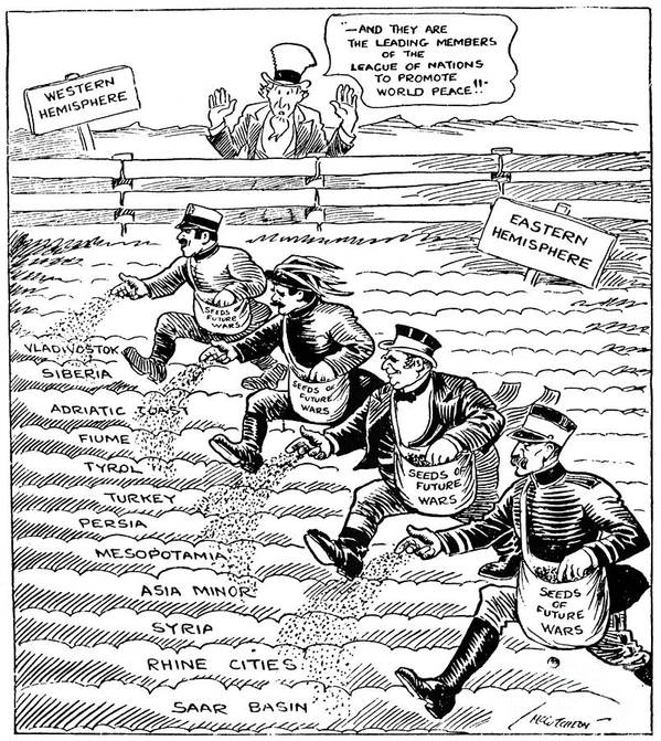 1920 Poster featuring the drawing League Of Nations Cartoon by Granger