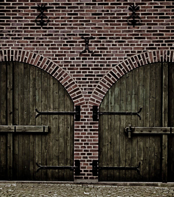 Doors Poster featuring the photograph Brick Zipper by Odd Jeppesen