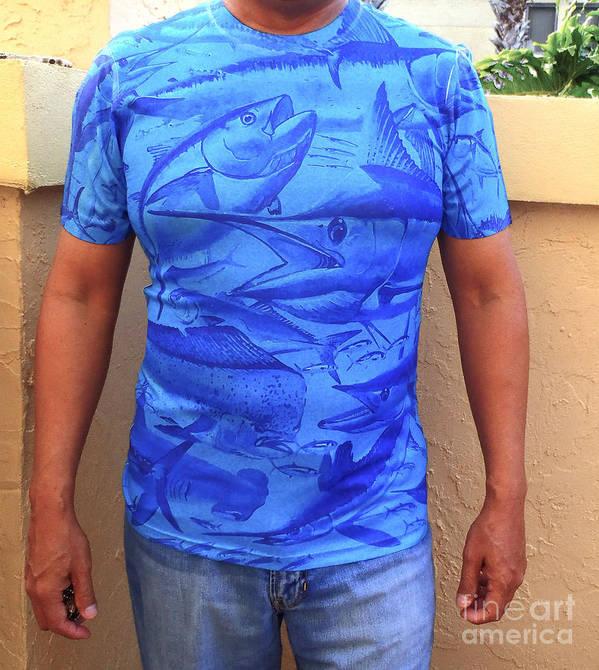 T Shirt Poster featuring the digital art Carey Chen Performance Shirt by Carey Chen