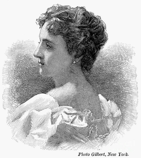 1896 Poster featuring the photograph Caroline Lavinia Harrison by Granger