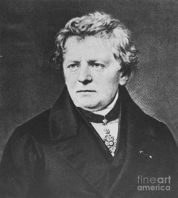 Georg Simon Ohm Poster featuring the photograph Georg Ohm, German Physicist by Science Source