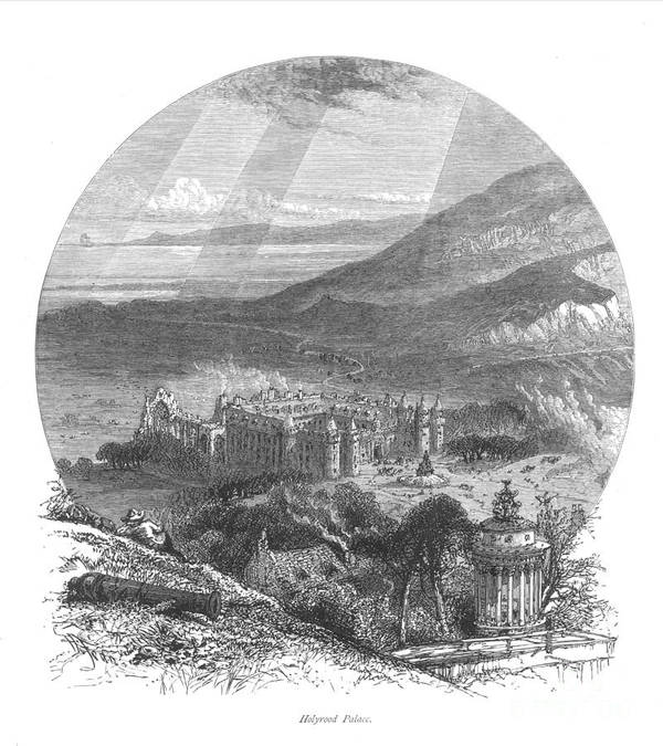 19th Century Poster featuring the photograph Holyrood Palace by Granger