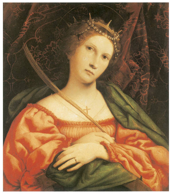 Lorenzo Lotto Poster featuring the painting St. Catherine by Lorenzo Lotto