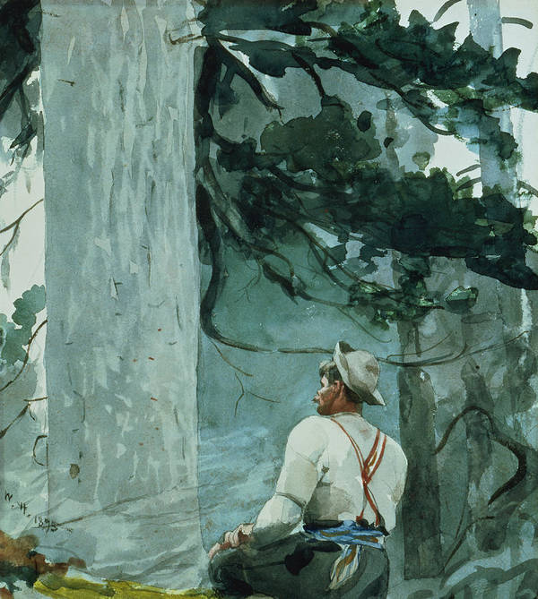 The Guide Poster featuring the painting The Guide by Winslow Homer