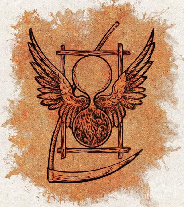 Freemason Poster Featuring The Painting Masonic Symbols By Pierre Blanchard