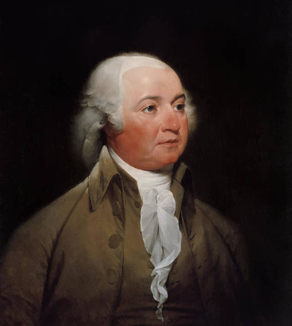 John Adams Poster featuring the painting President John Adams by War Is Hell Store