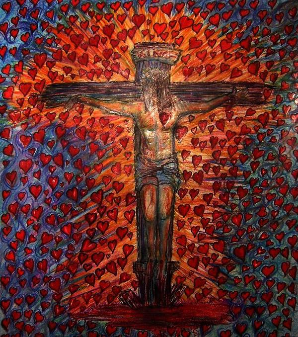 God Poster featuring the drawing Abundant Love by Richard Hubal