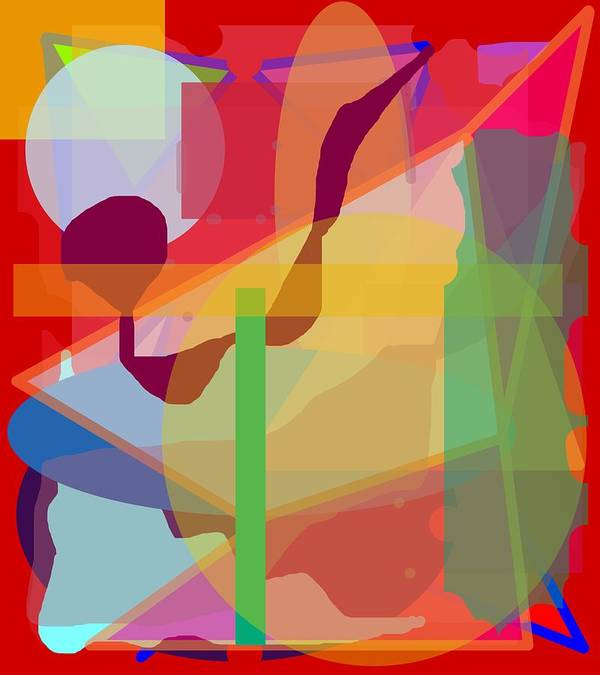 Abstract Poster featuring the painting Geo Frenzy by Pharris Art