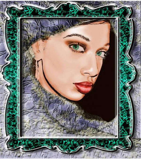 Portraid Poster featuring the painting Looking Glass by Maritza De Leon