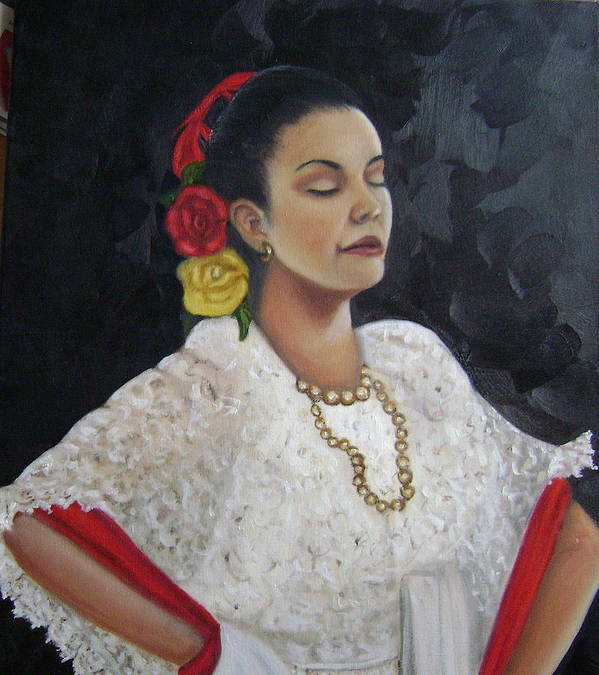 Poster featuring the painting Lucinda by Toni Berry