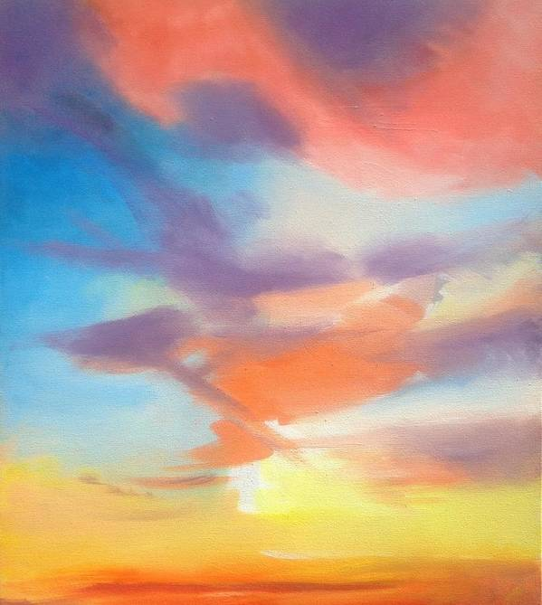 Skyscape Poster featuring the painting Mendelssohn Symphony #4 by Suzanne Cerny