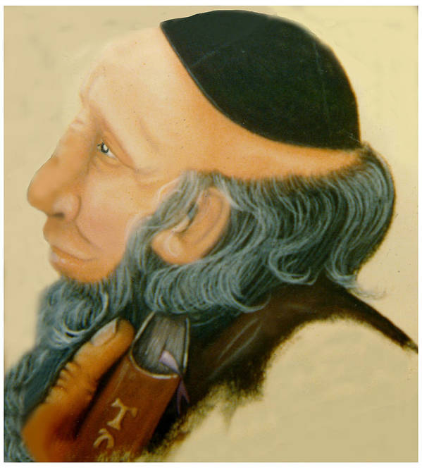 Rabbi Poster featuring the painting Rabbi by Winifred Ann Weishampel