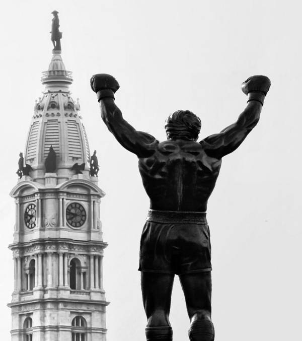 Rocky Poster featuring the photograph Rocky - Philly's Champ by Bill Cannon