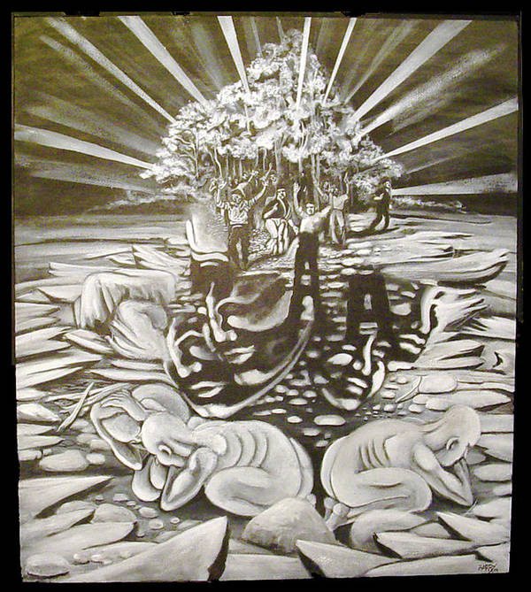 Surreal Poster featuring the painting The Gloaming by Stephen Barry