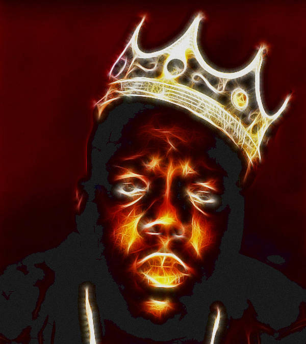 The Notorious B.i.g. - Biggie Smalls Poster featuring the photograph The Notorious B.i.g. - Biggie Smalls by Paul Ward