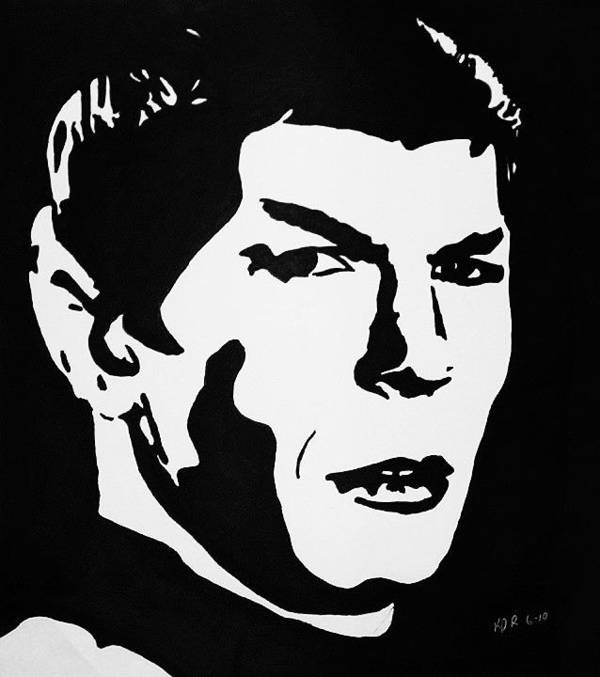 Star Trek Poster featuring the drawing Vulcan Spock by Kenneth Regan