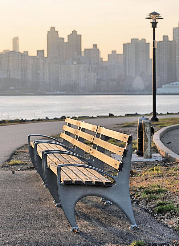 Manhattan Poster featuring the photograph The Bench by JC Findley