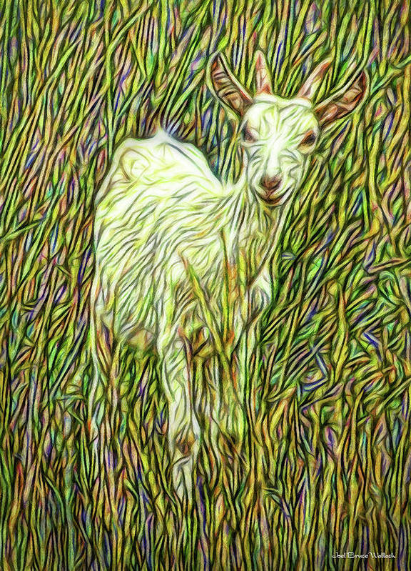 Joelbrucewallach Poster featuring the digital art At Play In The Wild Meadow by Joel Bruce Wallach