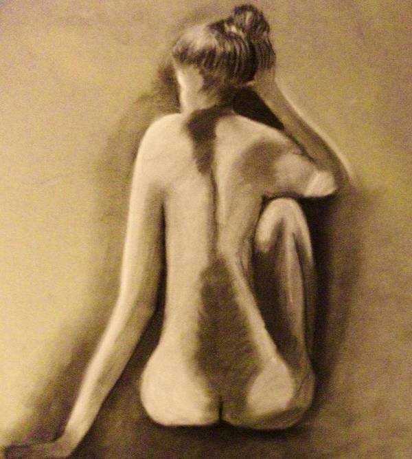 Nude Poster featuring the drawing Abandoned Dreams by Crystal Menicola