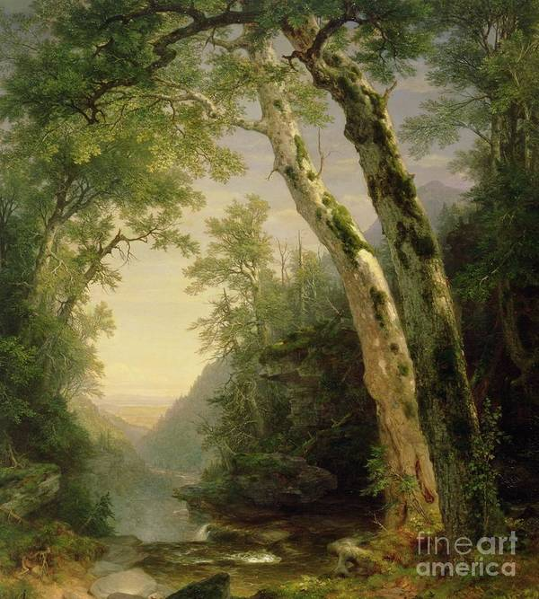 The Catskills Poster featuring the painting The Catskills by Asher Brown Durand