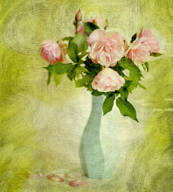 Pink Roses Poster featuring the photograph Comtesse De Labarthe by Linde Townsend