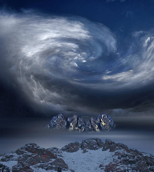Clouds Poster featuring the photograph 3969 by Peter Holme III