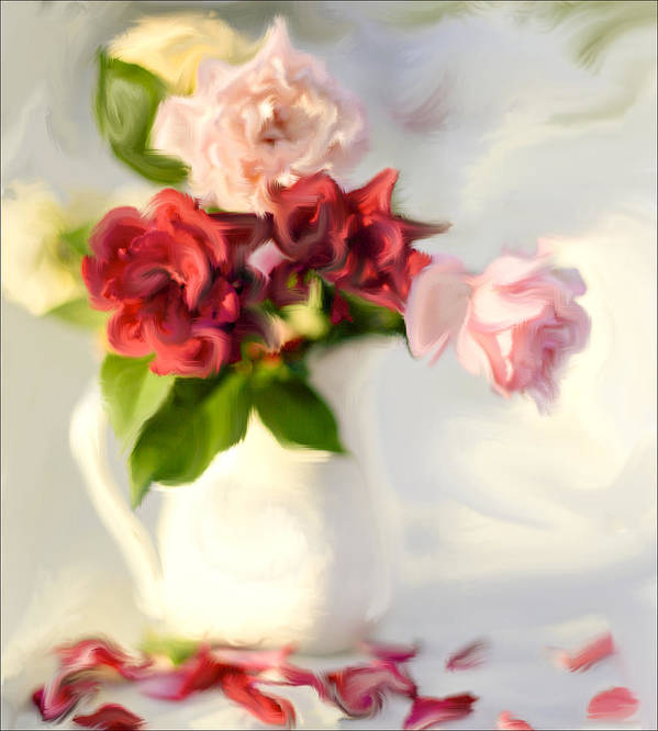 Roses Poster featuring the photograph Painted Teas by Linde Townsend