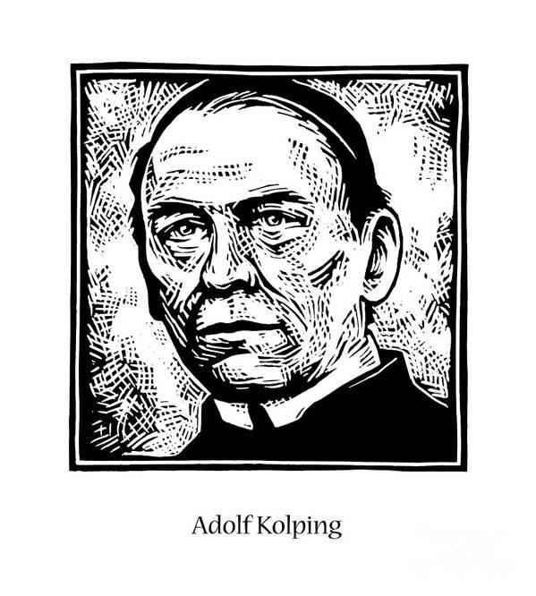 St. Adolf Kolping Poster featuring the painting St. Adolf Kolping - Jladk by Julie Lonneman