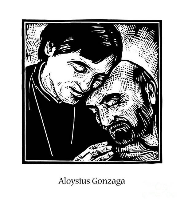 St. Aloysius Gonzaga Poster featuring the painting St. Aloysius Gonzaga - Jlalg by Julie Lonneman