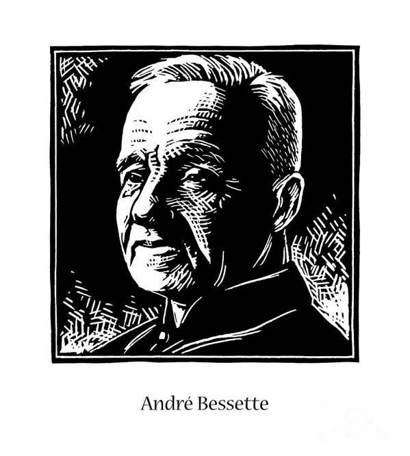 St. Andr� Bessette Poster featuring the painting St. Andre Bessette - Jlanb by Julie Lonneman