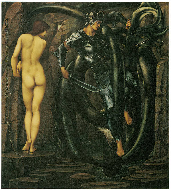 Edward Burne-jones Poster featuring the painting The Doom Fulfilled by Edward Burne-Jones