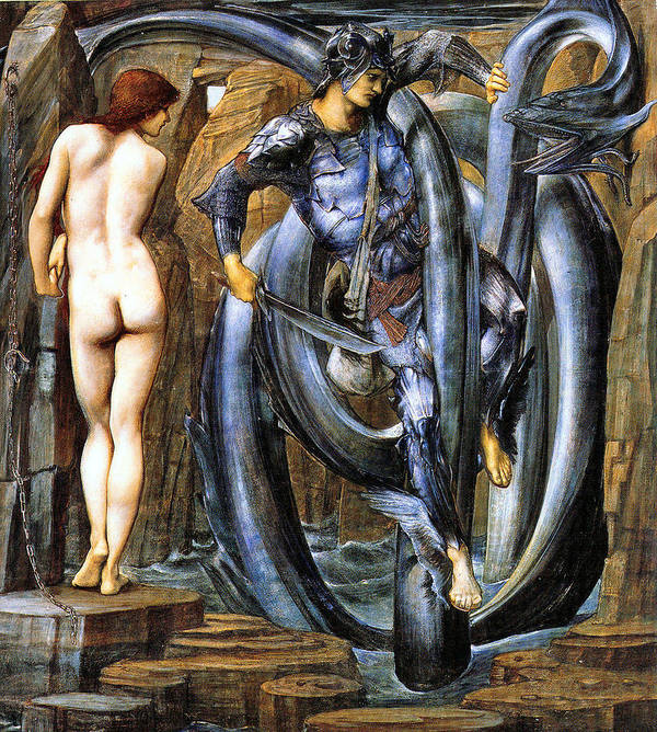 The Perseus Series Poster featuring the digital art The Doom Fulfilled by Edward Coley Burne-Jones