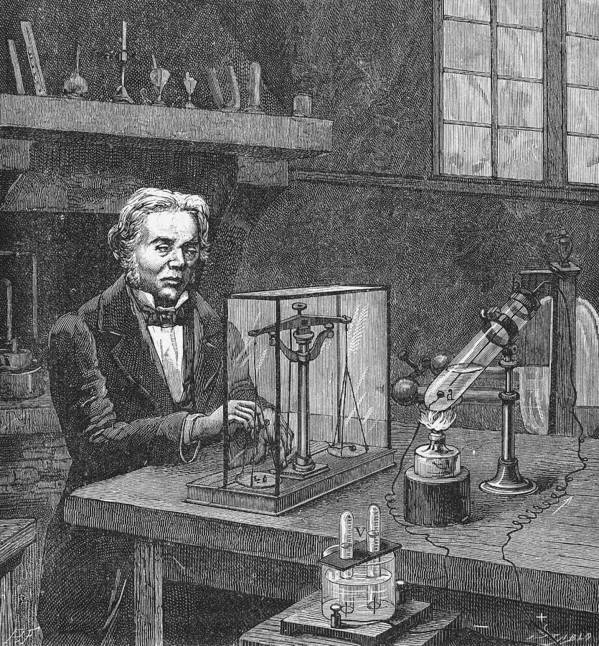 19th Century Poster featuring the photograph Michael Faraday (1791-1867) by Granger
