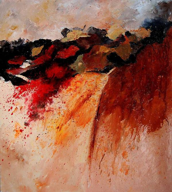 Abstract Poster featuring the painting Abstract 010607 by Pol Ledent