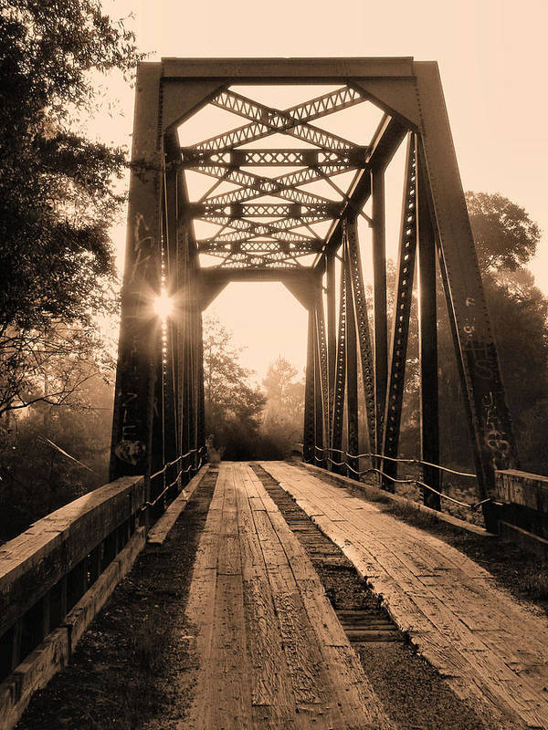 Bull Slough Bridge Poster featuring the photograph Brooklyn Bridge 3 by JC Findley