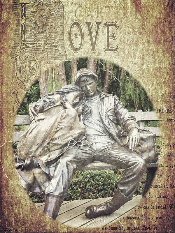 Couple Poster featuring the photograph Love Unending by Jordan Blackstone