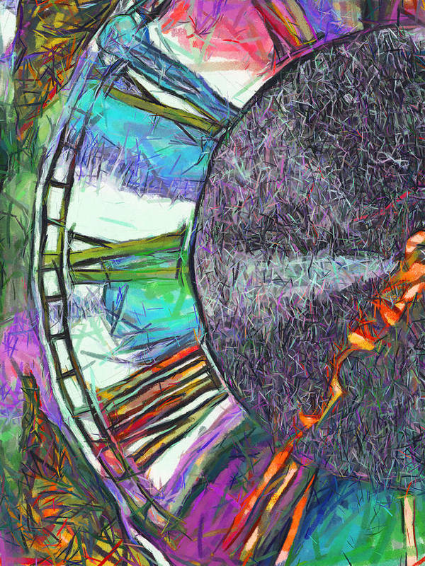 Abstract Poster featuring the digital art Timing Is Everything by Wendy J St Christopher