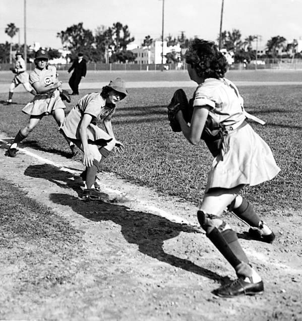 1940s Portraits Poster featuring the photograph Baseball, Kenosha Comets Play by Everett