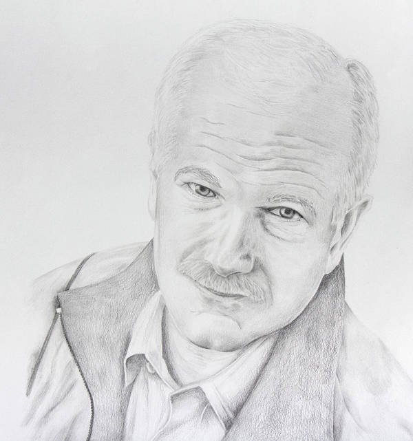 Jack Layton Poster featuring the drawing Jack Layton by Daniel Young