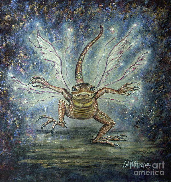 Fairy Poster featuring the mixed media Glitterkin by Carol Phillips