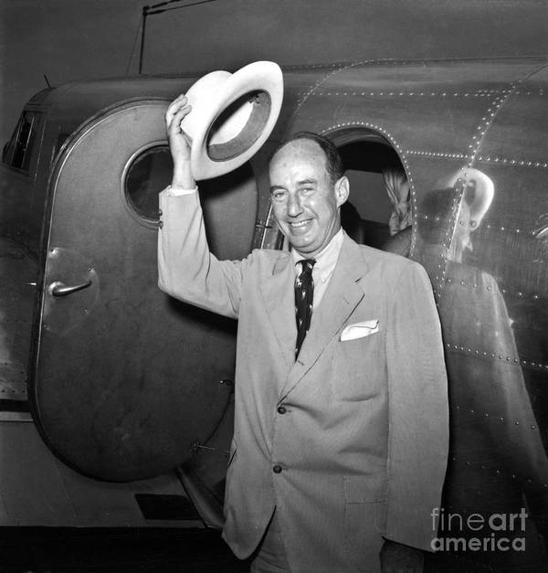 1952 Poster featuring the photograph Adlai Stevenson (1900-1965) by Granger