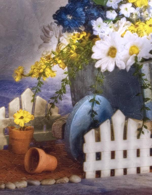 Arrangement Poster featuring the photograph In The Garden by Tom Mc Nemar