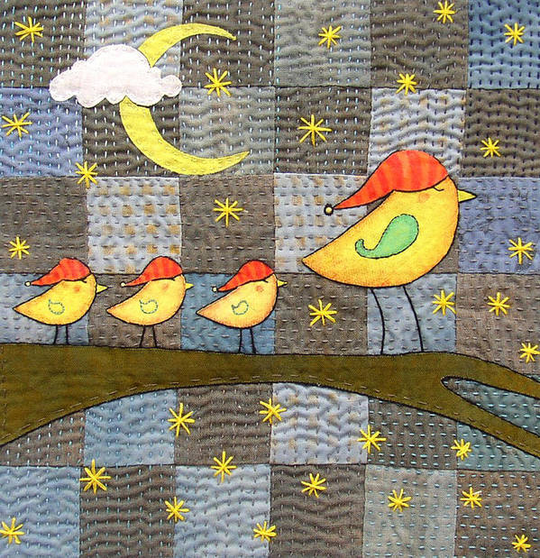 Boho Poster featuring the tapestry - textile Time For Bed by Julie Bull