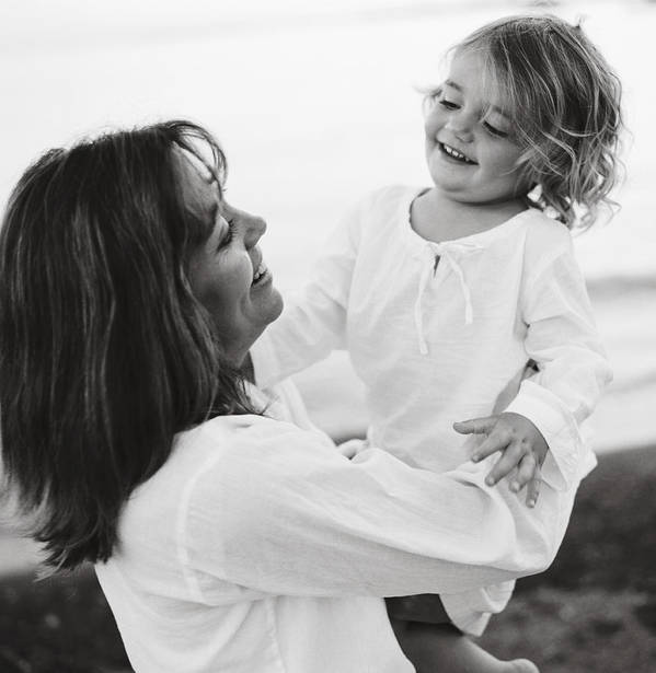3-5 Years Poster featuring the photograph Portrait Of Mother And Daughter by Michelle Quance