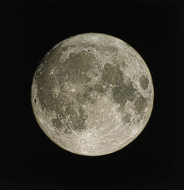 Moon Poster featuring the photograph Full Moon by Eckhard Slawik